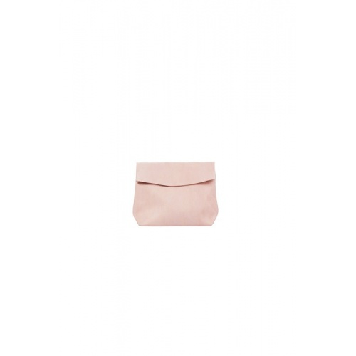 Small Light Pink Leather Purse