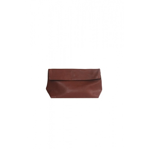 Medium Brown Leather Purse