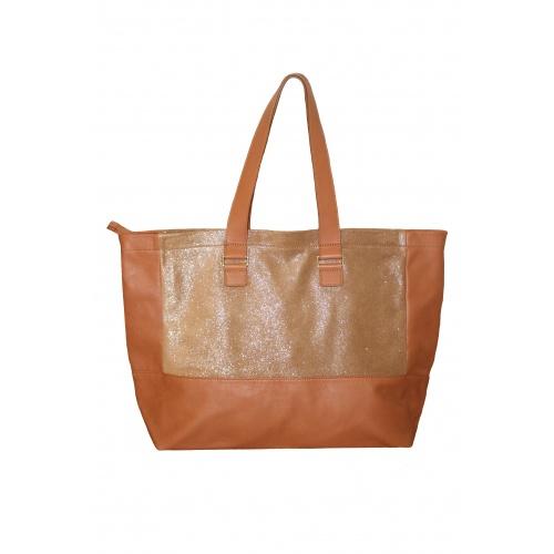 Acheter Glitter & Cognac Leather Tote