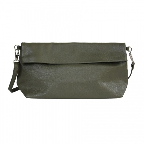 Khaki Leather Shoulder Bag