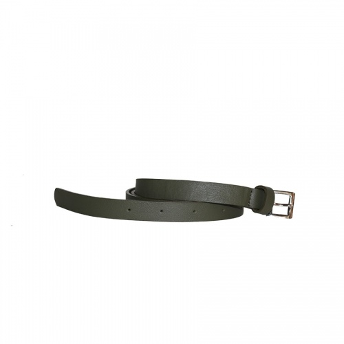Khaki Leather Belt