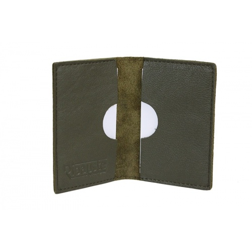 Acheter Khaki Leather card Holder