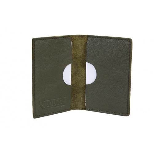Acheter Khaki Leather card Holder