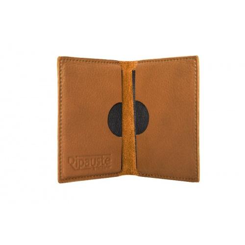 Camel Leather Card Holder