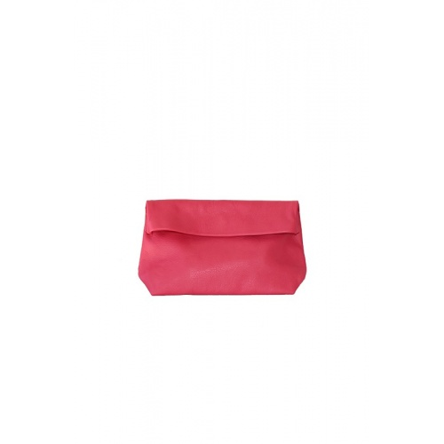 Medium Fuchsia Pink Leather Purse