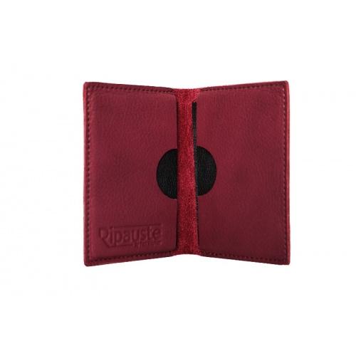 Acheter Burgundy Leather Card Holder