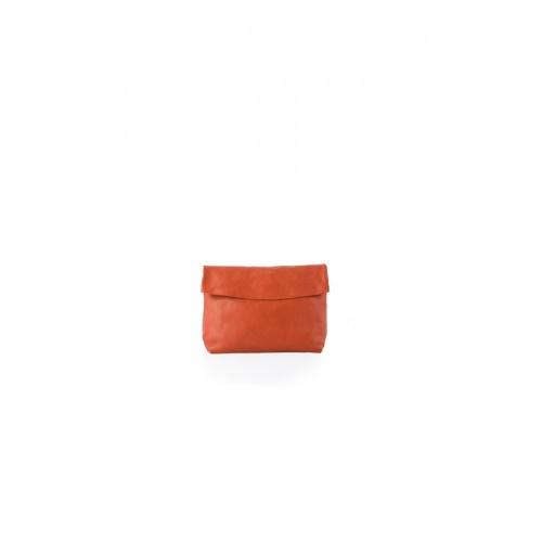 Small Orange Leather Purse