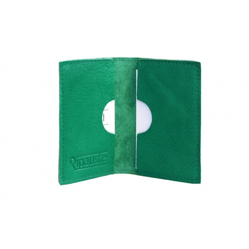 Acheter Green Leather Card Holder