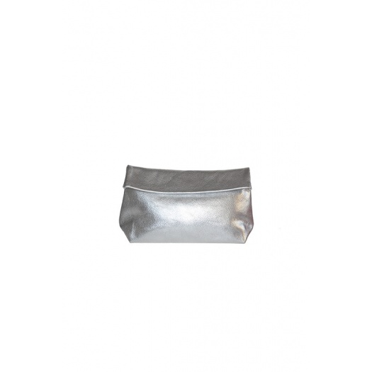 Medium Silver Leather Purse