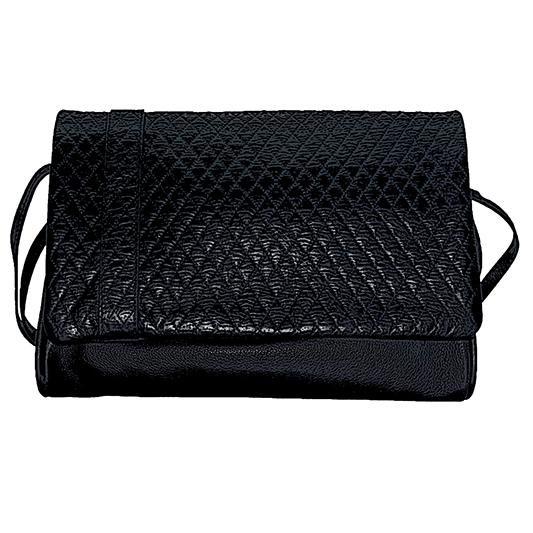 sac matelasse noir